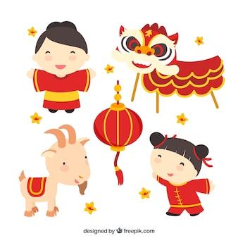 Chinês cultura ilustração