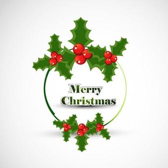 Christmas frame circular