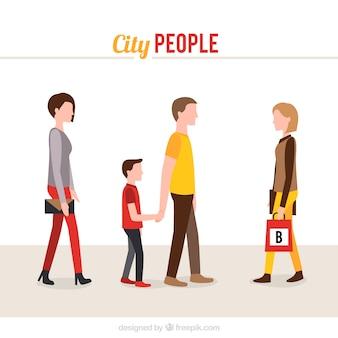 Cidade coleção pessoas