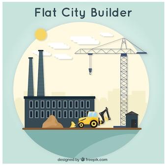 Cidade plana, de construção