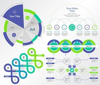 Cinco modelos de gráficos de pesquisa definidos