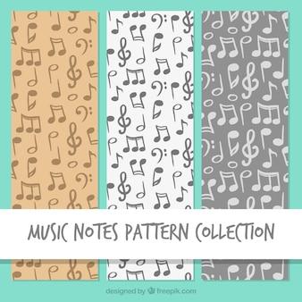 Cinza, música, notas, Padrão, fundo