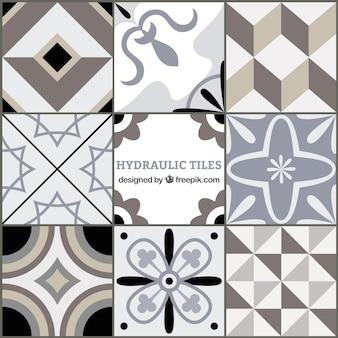 Cinza tons azulejos geométricos