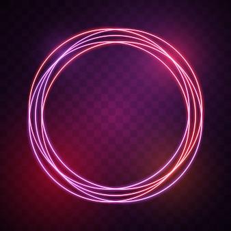Círculo com luzes vermelhas