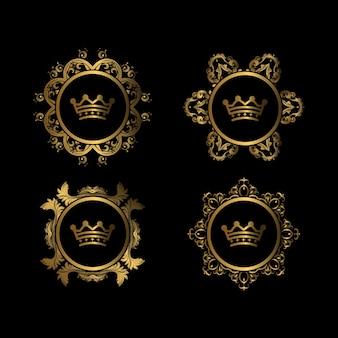 Círculo de ornamento de luxo