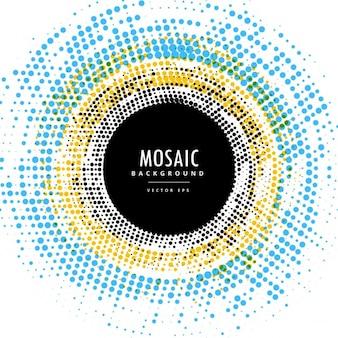 Círculo efeito fundo do mosaico