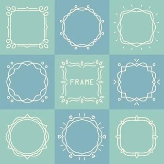 Círculos e quadrados desenhado com linhas