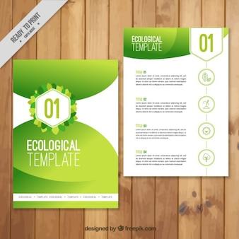 círculos verdes panfleto ecológico