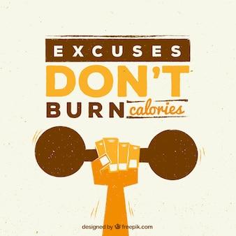 Citação de fitness inspirador