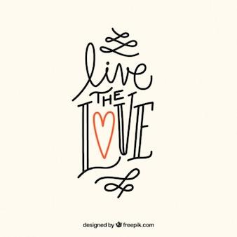 Citação escrito à mão amor
