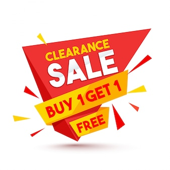 Clearance Sale paper banner ou tag design.
