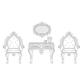 Cobertura de móveis ornamentais
