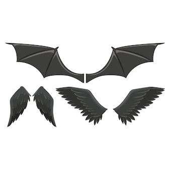 Coleção asas do animal selvagem