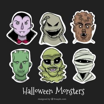 Coleção assustador com monstros Dia das Bruxas