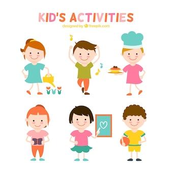 Coleção Atividades para crianças plana