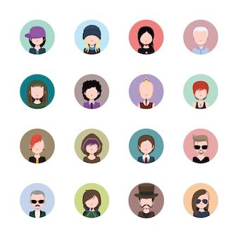 Coleção avatares Colorido