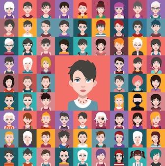 Coleção avatares humanos