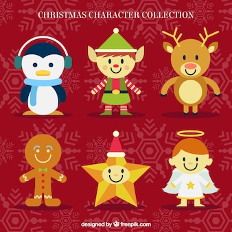 Coleção bonito de personagens natal