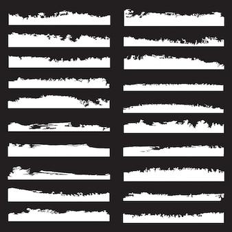 Coleção bordas do grunge