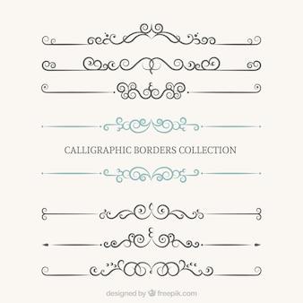 Coleção bordes caligráficos