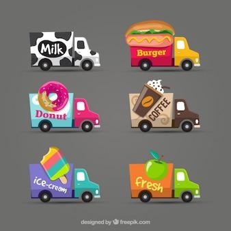 coleção caminhão de alimentos