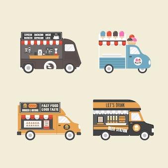Coleção caminhões de alimentos