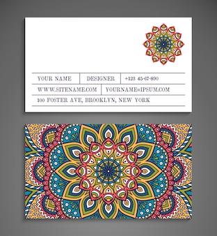 Coleção Cartão de visita ou convite Fundo do vetor Elementos decorativos do vintage Desenho desenhado à mão