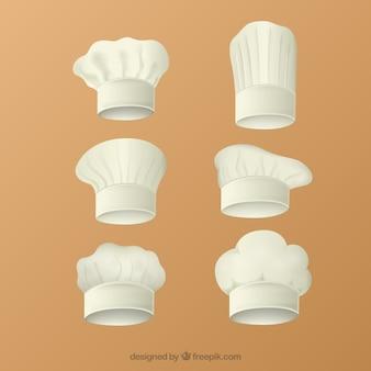 Coleção chapéus de chef