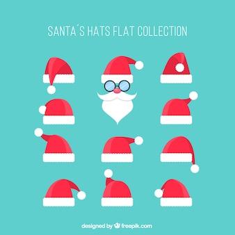 Coleção chapéus de Santa