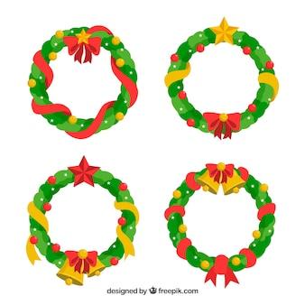 Coleção clássica de ornamento de natal