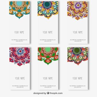 Coleção colorida banners mandala