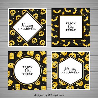 Coleção creativa de cartões de halloween