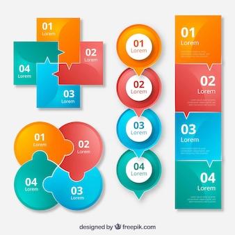 Coleção criativa de elementos infográficos