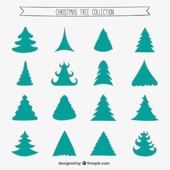 Coleção da árvore verde do Natal