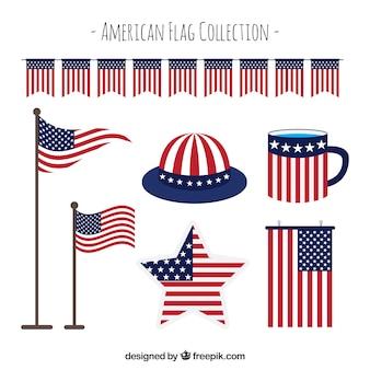 Coleção da bandeira americana
