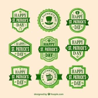 Coleção da etiqueta do dia bonito de St Patrick