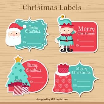 Coleção da etiqueta do Natal