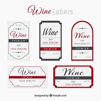 Coleção da etiqueta do vinho elegante