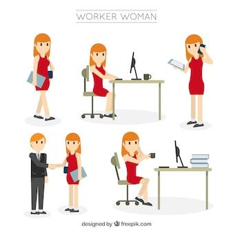 Coleção da mulher do trabalhador