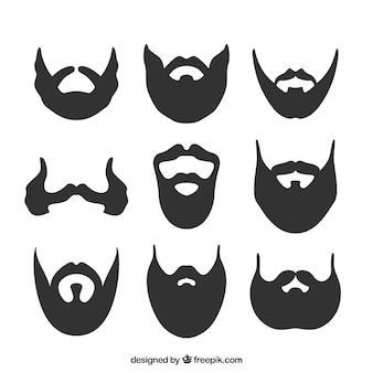 Coleção da silhueta da barba