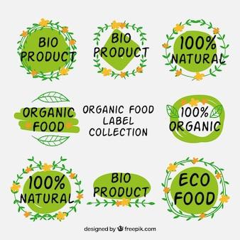 Coleção de adesivo ecológico