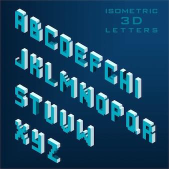 Coleção de alfabeto 3d