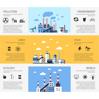 Coleção de banner de poluição