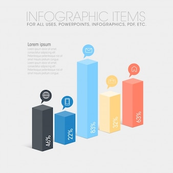 Coleção de barras de infografia