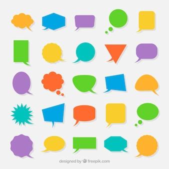 Coleção de bolhas de discurso geométricas