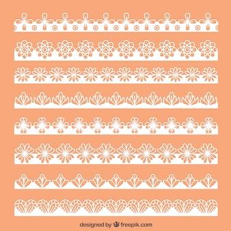 Coleção de bordas de renda floral