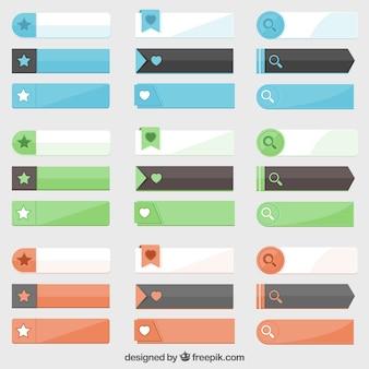 Coleção de botão bela web