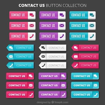 Coleção de botões de contatos
