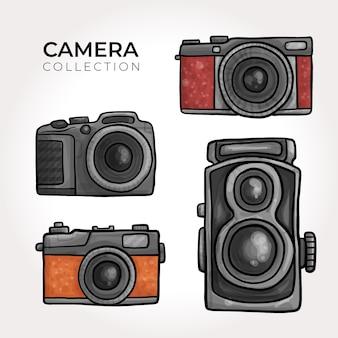 Coleção de câmera retro