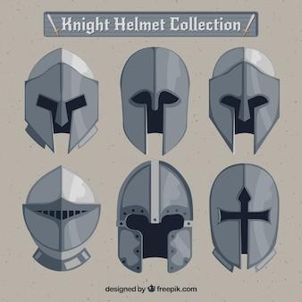 Coleção de capacete de armadura